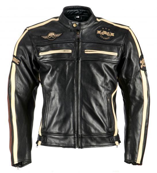 Herren Motorradjacke schwarz Classic One Lederjacke