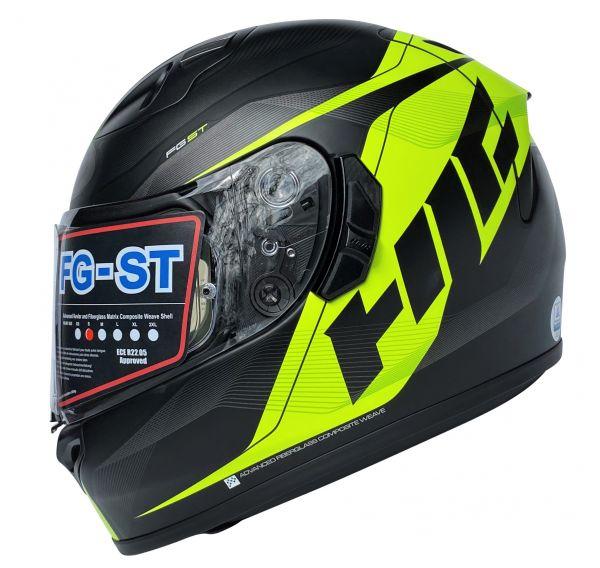 HJC FG-ST Crono Helm Neongelb Schwarz Gr. S