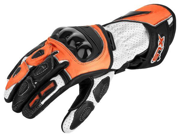Motorradhandschuhe von XLS Race Line Orange
