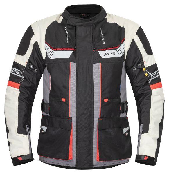 XLS Motorrad Textiljacke X-Drive Grau
