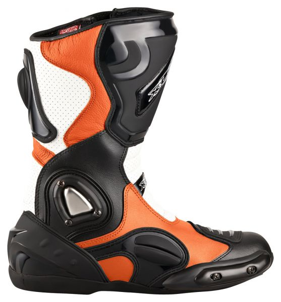 "XLS Motorradstiefel ""Race Gear"" / Racing Boots in KTM Orange"