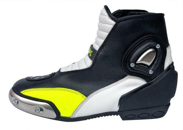Kurze Motorradstiefel XLS Racing Boots Neongelb