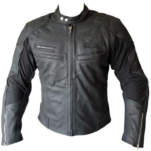 Lederjacke Motorradjacke schwarz matt Gr. XXL