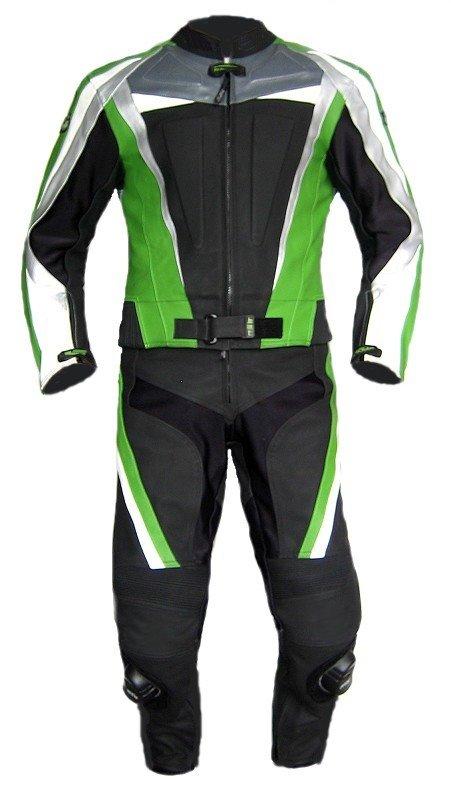 XLS Green Carbon Lederkombi in Kurzgr/ö/ße schwarz gr/ün