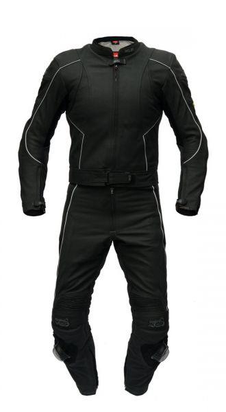 """Zweiteilige Lederkombi von XLS Modell """"Black-Arrow"""" als Kurzgröße"""