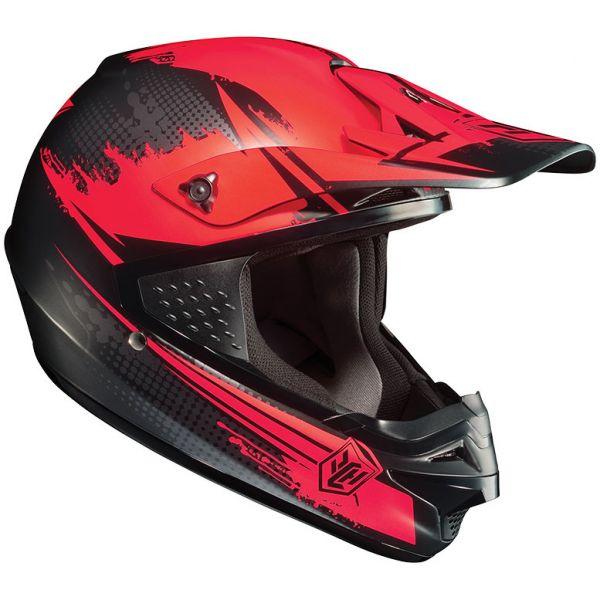 HJC Helm Cross Enduro CS-MX Motorradhelm Rot Schwarz Gr. L