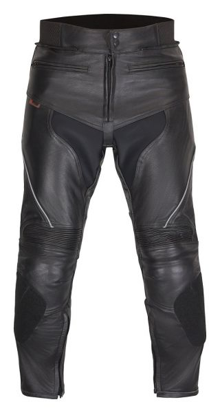Hochwertige Motorradlederhose Schwarz Mod. Sports-1