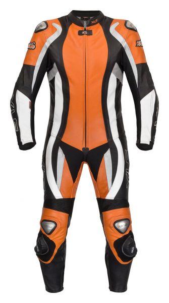 XLS Lederkombi Einteiler in hochwertiger Verarbeitung Schwarz KTM Orange