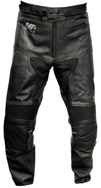 Lederhose STRIKER Motorradhose Schwarz als Kurzgröße