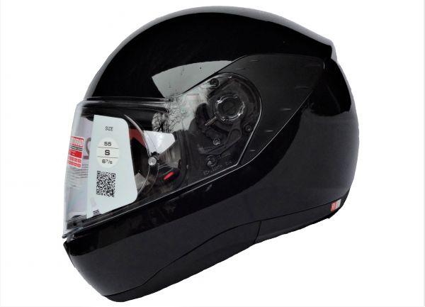 Schuberth R2 Motorradhelm Glossy Black Test Pilot Schwarz Gr. S