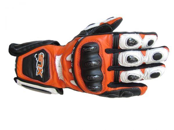 Neue hochwertige XLS Motorradhandschuhe mit Protektoren