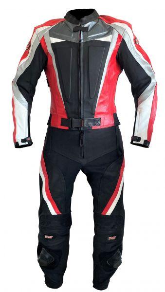 Lederkombi RED ARROW zweiteilig schwarz rot von XLS