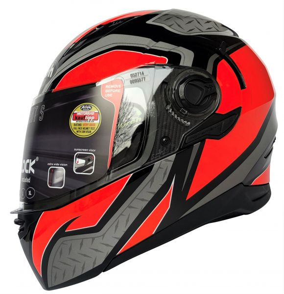 Airoh Motorradhelm Movement S Steel Orange Integral
