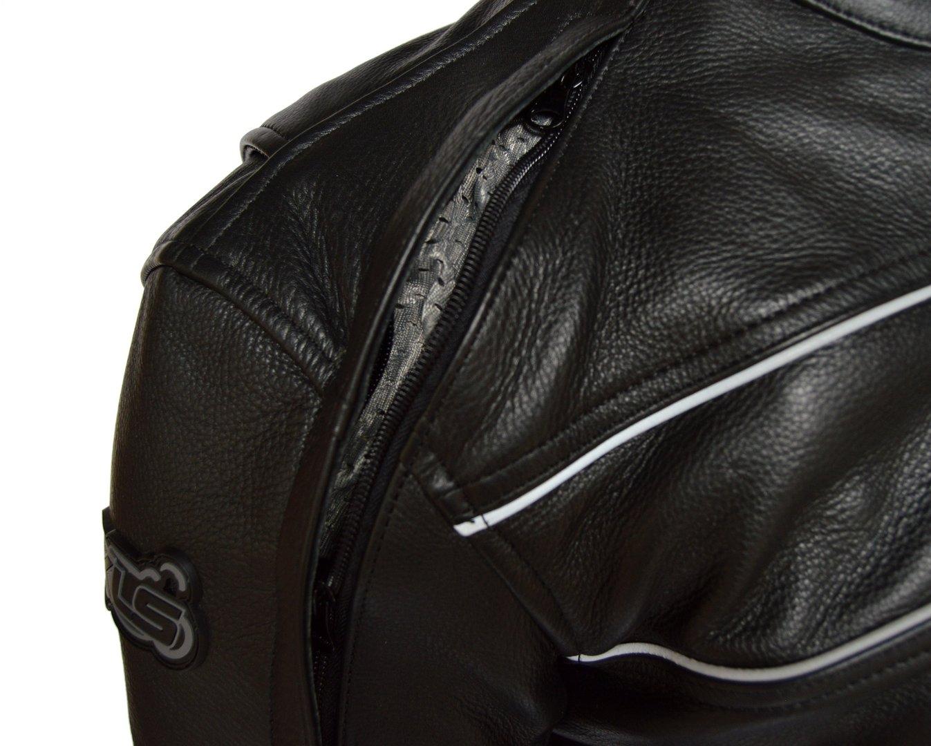 S XLS Hochwertige Motorradlederjacke schwarz