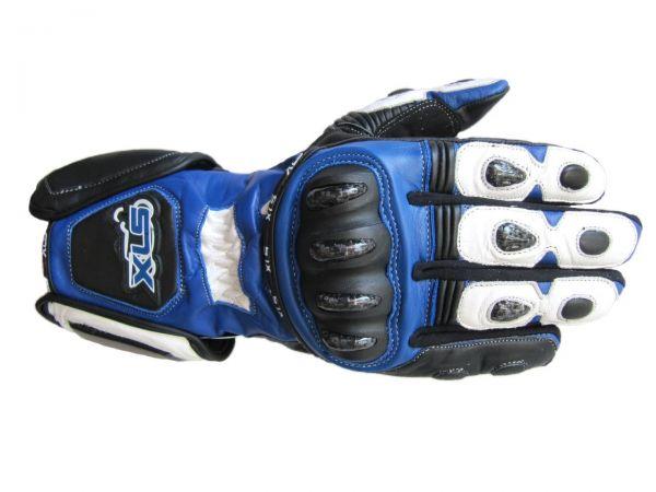 XLS Racing Line, hochwertige Motorradhandschuhe aus Leder mit Protektoren
